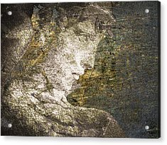 Angel In Bronze And Copper 2 Acrylic Print