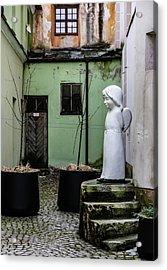 Angel In Courtyard Acrylic Print