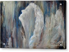 Angel In Soft Pastel Acrylic Print by Cathy Weaver