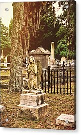 Angel In Stone Acrylic Print by JAMART Photography
