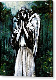 Angel In The Garden Acrylic Print