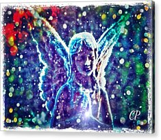 Angel In The Snow Acrylic Print