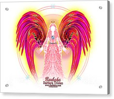 Acrylic Print featuring the digital art Angel Intentions Divine Timing by Barbara Tristan