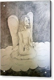 Angel Acrylic Print by Jennifer Hernandez