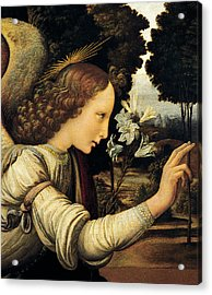 Angel Acrylic Print by Leonardo Da Vinci