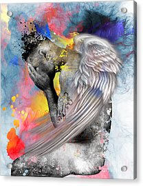 Angel  Acrylic Print by Mark Ashkenazi