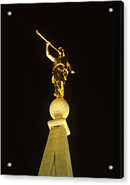 Angel Moroni Acrylic Print by Troy Montemayor