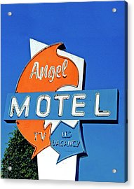 Acrylic Print featuring the photograph Angel Motel by Matthew Bamberg