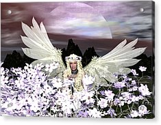 Angel My Guardian Acrylic Print by Eva Thomas