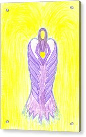 Angel Of Compassion Acrylic Print by Konstadina Sadoriniou - Adhen