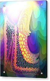 Angel Of Gratitude Acrylic Print by Mairin Gilmartin