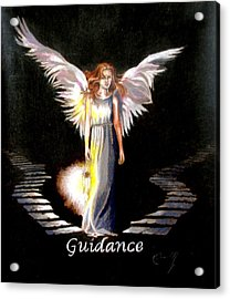 Angel Of Guidance Acrylic Print by Concept by Rev Kathleen L Dixon Artist Greg Crumbly