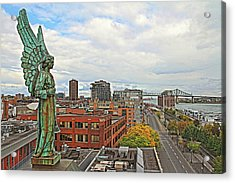 Angel Of Old Montreal Acrylic Print by Alice Gipson