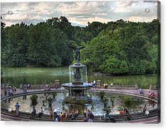 Angel Of The Waters Fountain  Bethesda Acrylic Print