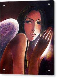 Angel Acrylic Print by Ognian Kouzmanoav