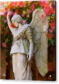 Angel Acrylic Print by Paul Bartoszek