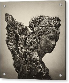 Angel Statue Acrylic Print by Robert Ullmann