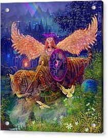 Angel Tarot Card Angel Fairy Dream Acrylic Print by Steve Roberts