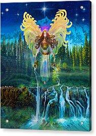 Angel Tarot Card Archangel Jophiel  Acrylic Print by Steve Roberts