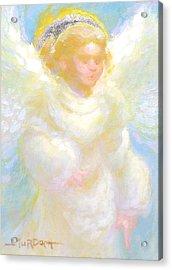 Angel Transmitting Light Acrylic Print by John Murdoch