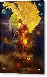 Acrylic Print featuring the painting Angel Uriel by Steve Roberts