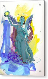 Angel, Victory Is Now Acrylic Print by Amara Dacer