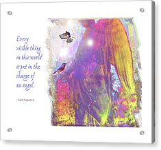 Acrylic Print featuring the photograph Angel Vision by Marie Hicks