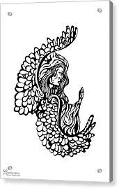 Angel Watching Acrylic Print by Karen Musick