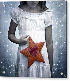Angel With A Star Acrylic Print