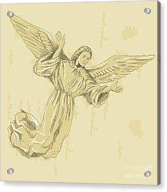 Angel With Arms Spread Acrylic Print by Aloysius Patrimonio
