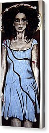 Angel With Ribbon Acrylic Print by Chrissa Arazny- Nordquist