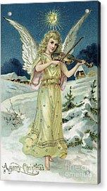 Angel With Violin Acrylic Print