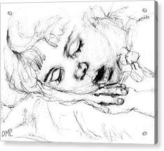 Angela Acrylic Print by Diana Ludwig