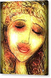 Angela Acrylic Print by Elaine Lanoue