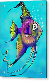 Acrylic Print featuring the painting Angelfish by Kevin Middleton