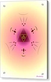 Angelic Code - Psychic Vision Acrylic Print by Konstadina Sadoriniou - Adhen