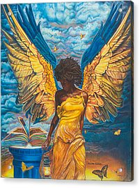 Angelic Guidance Acrylic Print by Buena Johnson