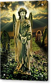 Angelic Light In Color Acrylic Print by Meirion Matthias