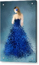 Acrylic Print featuring the digital art Angelica by Nancy Levan