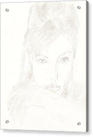 Angelina Acrylic Print by Carlos Hyman