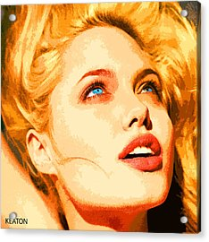 Acrylic Print featuring the digital art Angelina by John Keaton