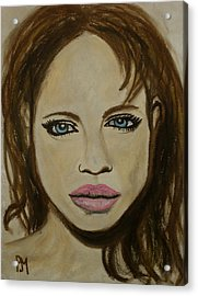 Angelina Jolie Acrylic Print by Pete Maier