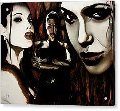 Angelina Jolie Acrylic Print by Sarah Whitscell