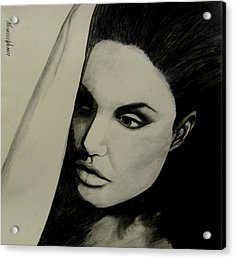 Acrylic Print featuring the drawing Angelina by Michelle Dallocchio