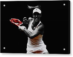 Angelique Kerber 3e Acrylic Print by Brian Reaves