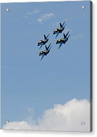Angels Above The Clouds Acrylic Print