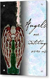Angels Are Watching Over Us Acrylic Print by Christopher Gaston