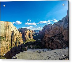 Angels Landing Acrylic Print by Alpha Wanderlust