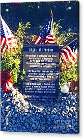 Angels Of Freedom Memorial Acrylic Print