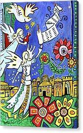Angels Over Jerusalem Acrylic Print